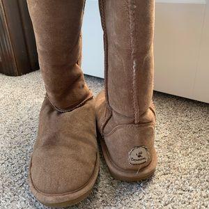 Tall bearpaw winter boots